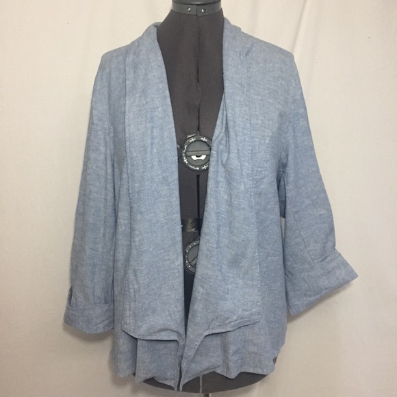 Lane Bryant Jackets & Blazers - Lane Bryant Chambray Blazer Sz 28 Gently Used